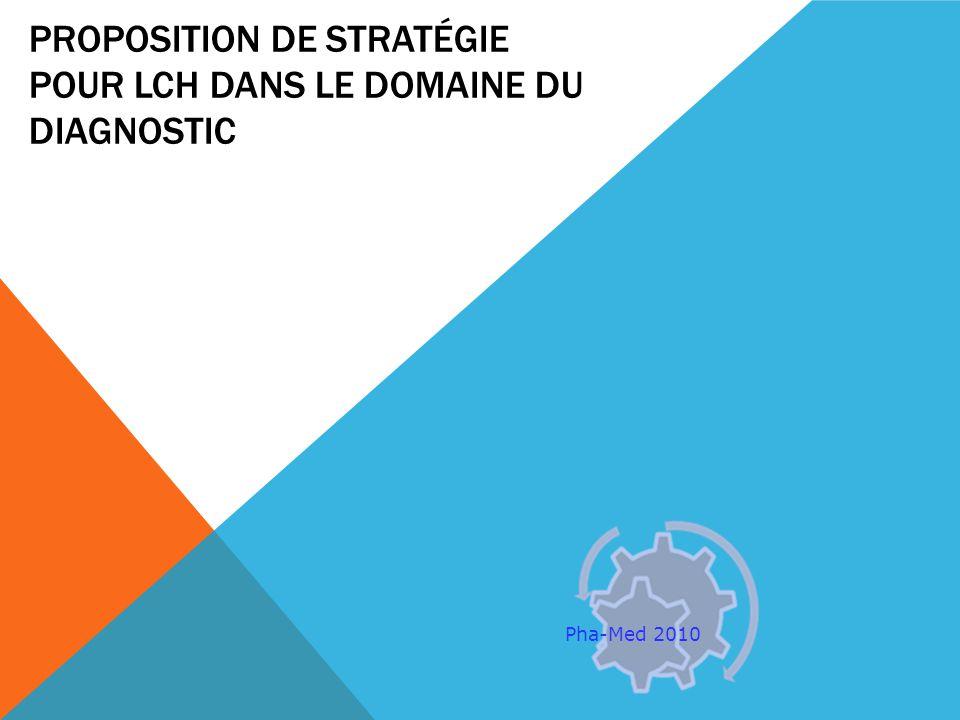 PROPOSITION DE STRATÉGIE POUR LCH DANS LE DOMAINE DU DIAGNOSTIC Pha-Med 2010
