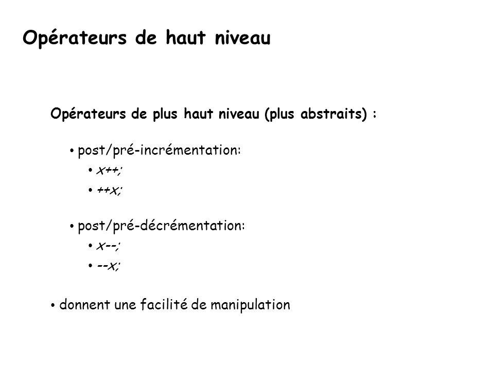 Création d'un modèle struct boite { Plan pl[6]; }; struct Pt { float x; float y; float z; }; struct Plan { Pt p[4]; }; float x; Boite b1; … b1.rotation(b1,45); … Modélisation: • modèle près de la réalité • modèle distant des détails d'implantation