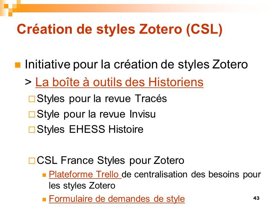 Création de styles Zotero (CSL)  Initiative pour la création de styles Zotero > La boîte à outils des HistoriensLa boîte à outils des Historiens  St