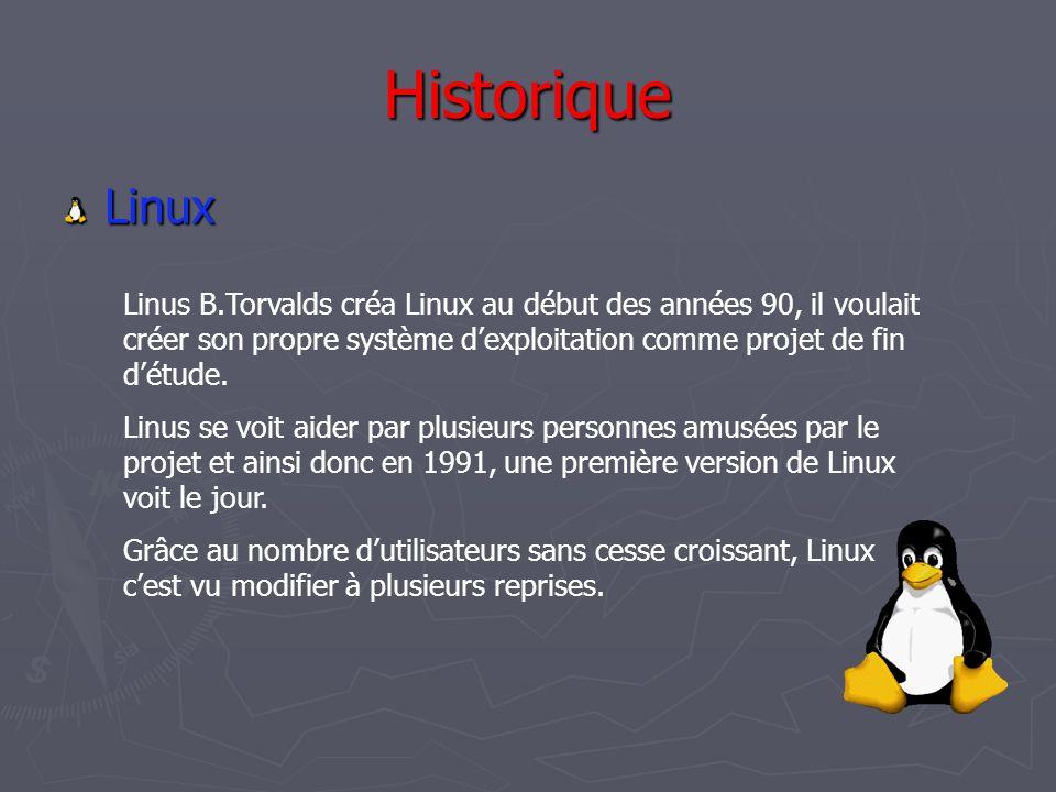 Compatibilité Il existe un compatibilité dans le sens Windows → Linux mais pas dans le sens inverse, c'est à dire que Linux est capable de lire une grande majorité des formats utiliser pas Windows mais pas inversement.
