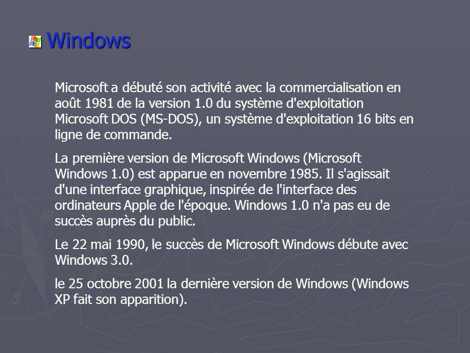 Installation Linux L'installation de Linux se déroule différemment de Windows.