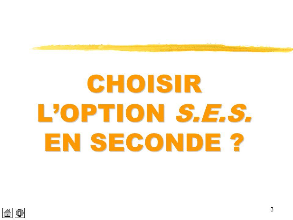 3 CHOISIR L'OPTION S.E.S. EN SECONDE ?