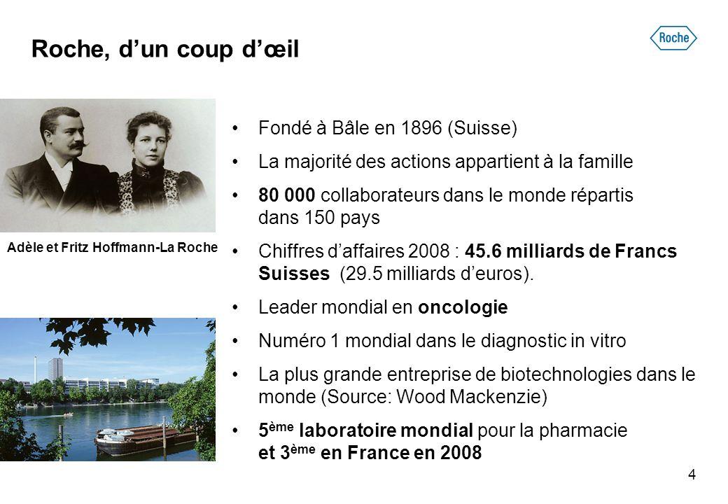4 •Fondé à Bâle en 1896 (Suisse) •La majorité des actions appartient à la famille •80 000 collaborateurs dans le monde répartis dans 150 pays •Chiffre