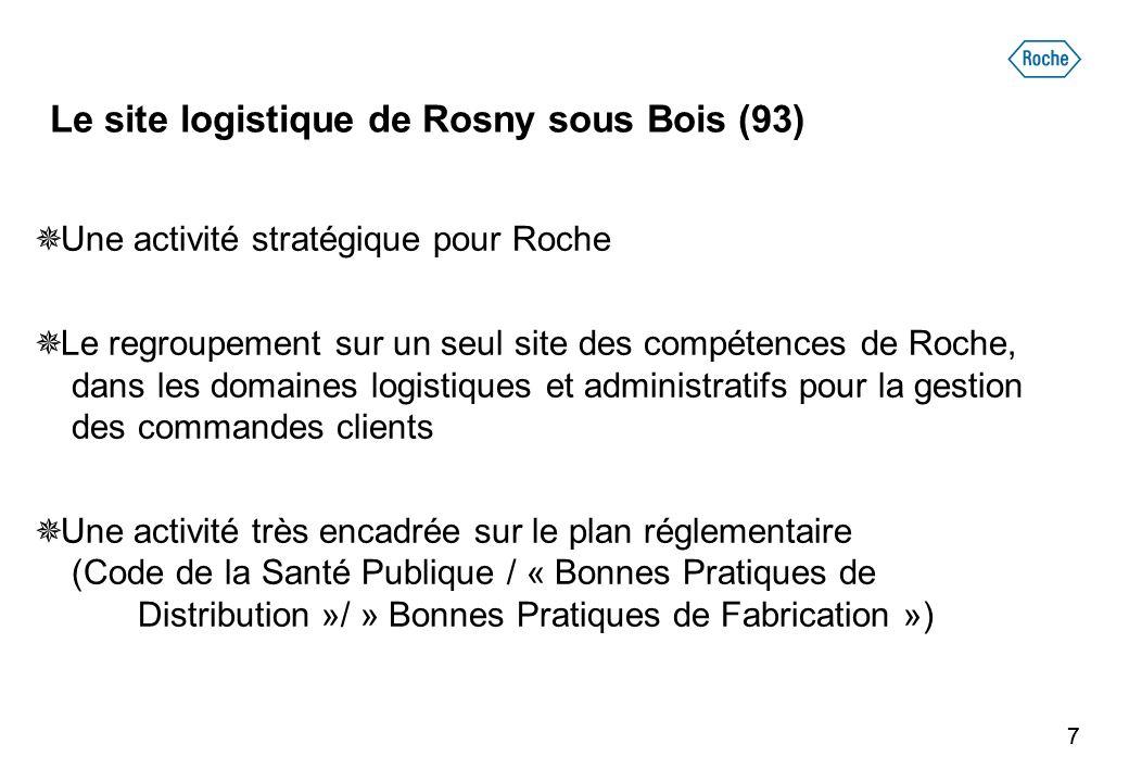 77  Une activité stratégique pour Roche  Le regroupement sur un seul site des compétences de Roche, dans les domaines logistiques et administratifs