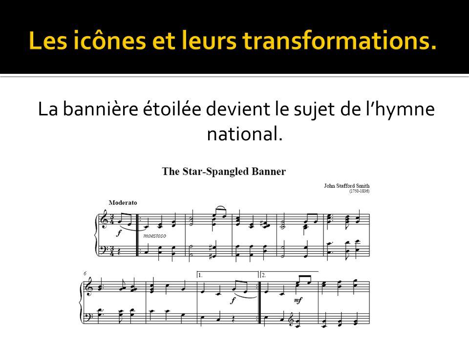 La bannière étoilée devient le sujet de l'hymne national.