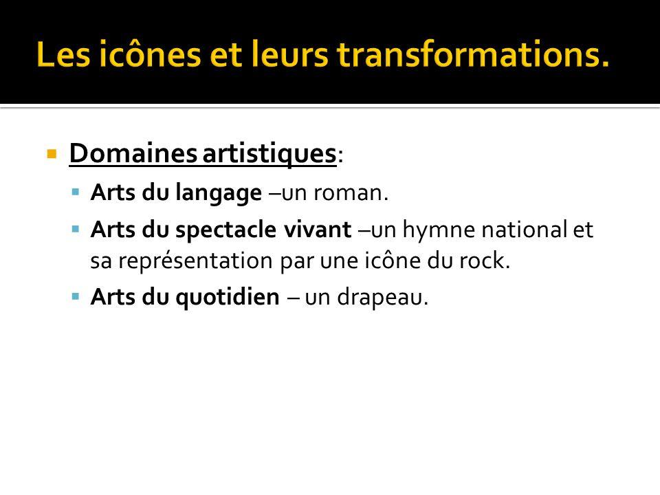  Champ anthropologique.  Thématique: Arts, sociétés, cultures.  La reprise d'un emblème.