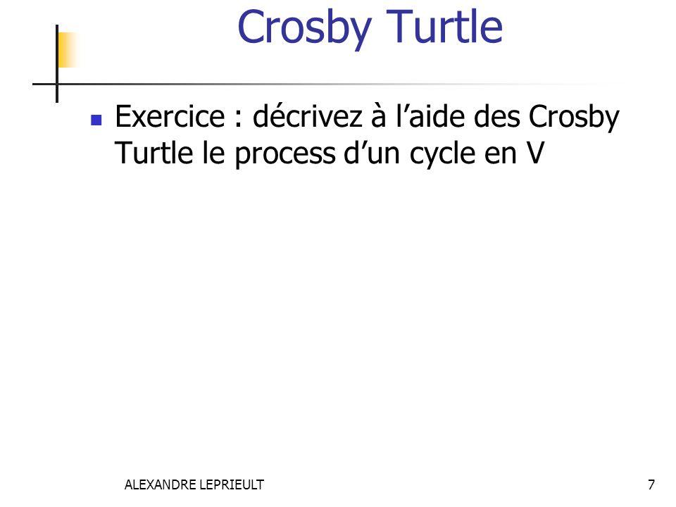 ALEXANDRE LEPRIEULT 7 Crosby Turtle  Exercice : décrivez à l'aide des Crosby Turtle le process d'un cycle en V