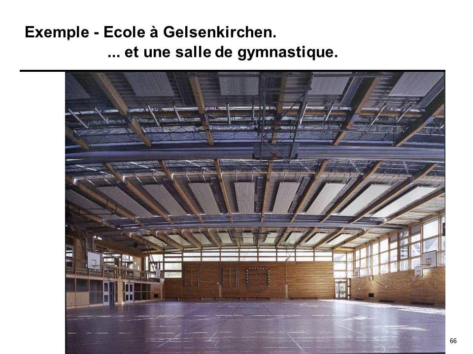 66 Exemple - Ecole à Gelsenkirchen.... et une salle de gymnastique.
