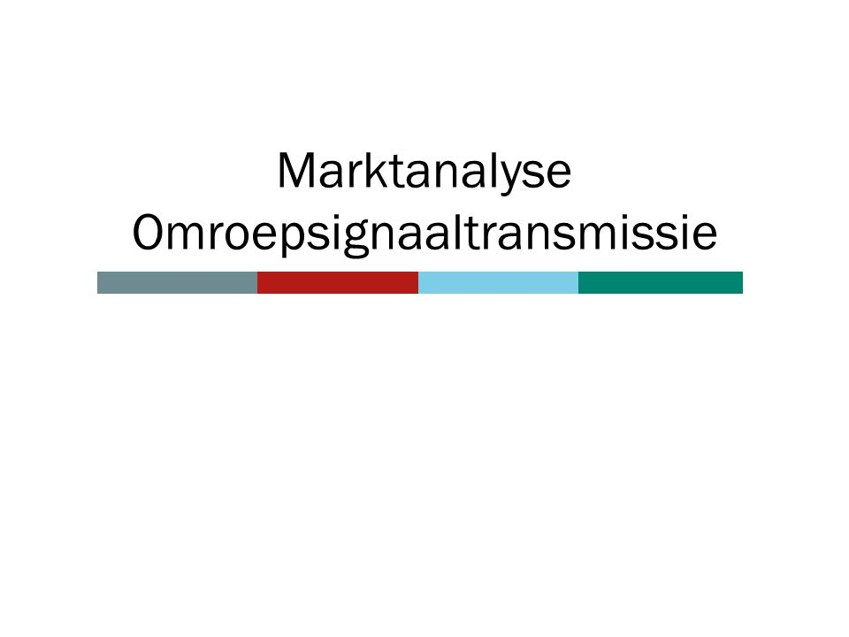 Marktanalyse Omroepsignaaltransmissie