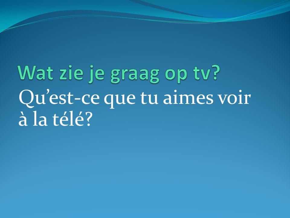 Qu'est-ce que tu aimes voir à la télé?