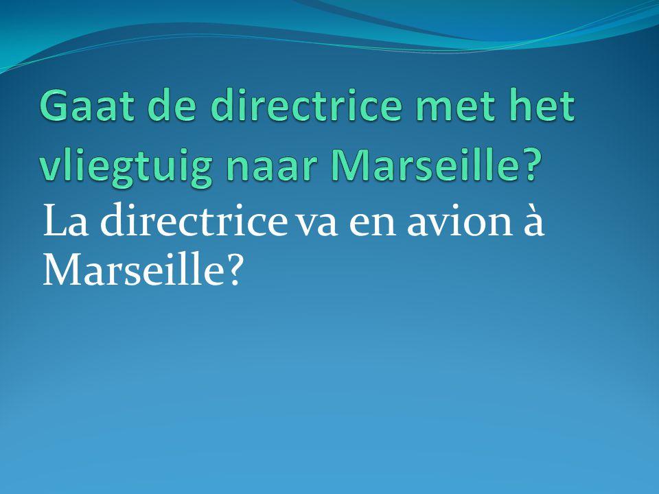 La directrice va en avion à Marseille