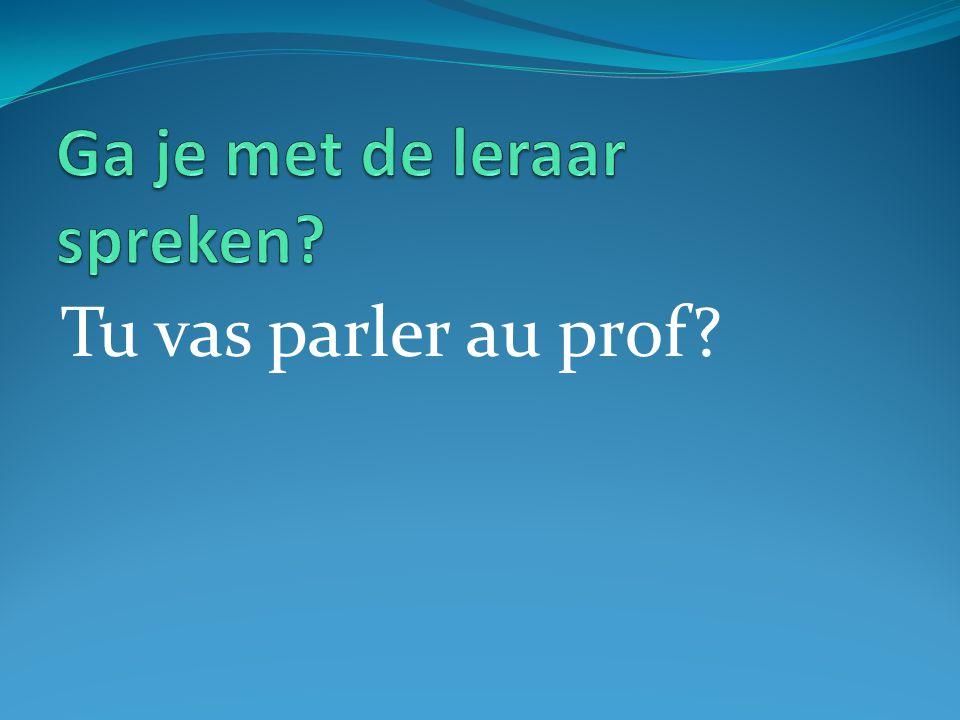 Tu vas parler au prof?
