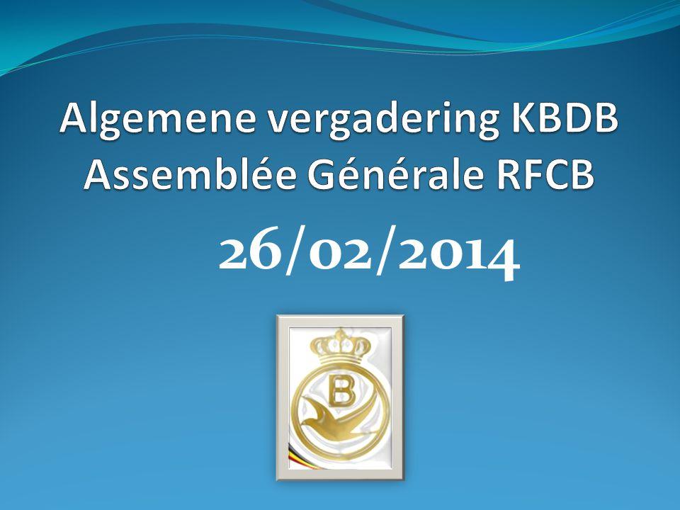 Algemene vergadering KBDB Assemblée Générale RFCB • 16. Dopingreglement • 16. Règlement doping