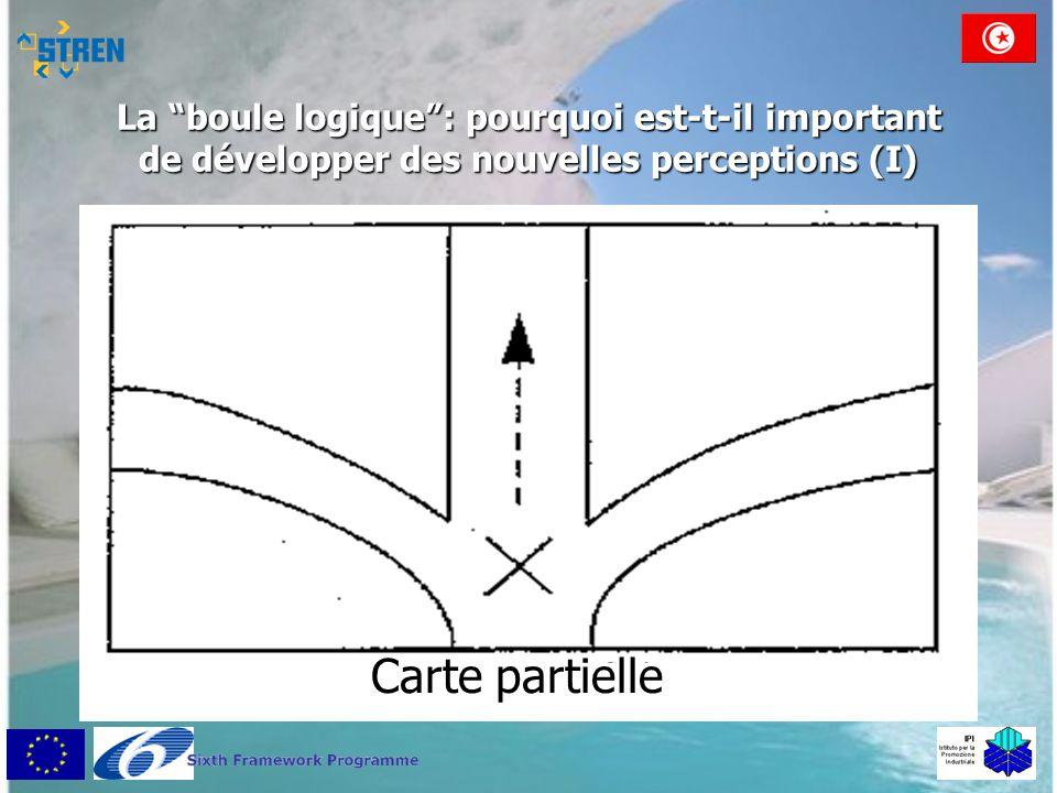 """La """"boule logique"""": pourquoi est-t-il important de développer des nouvelles perceptions (I) Carte partielle"""