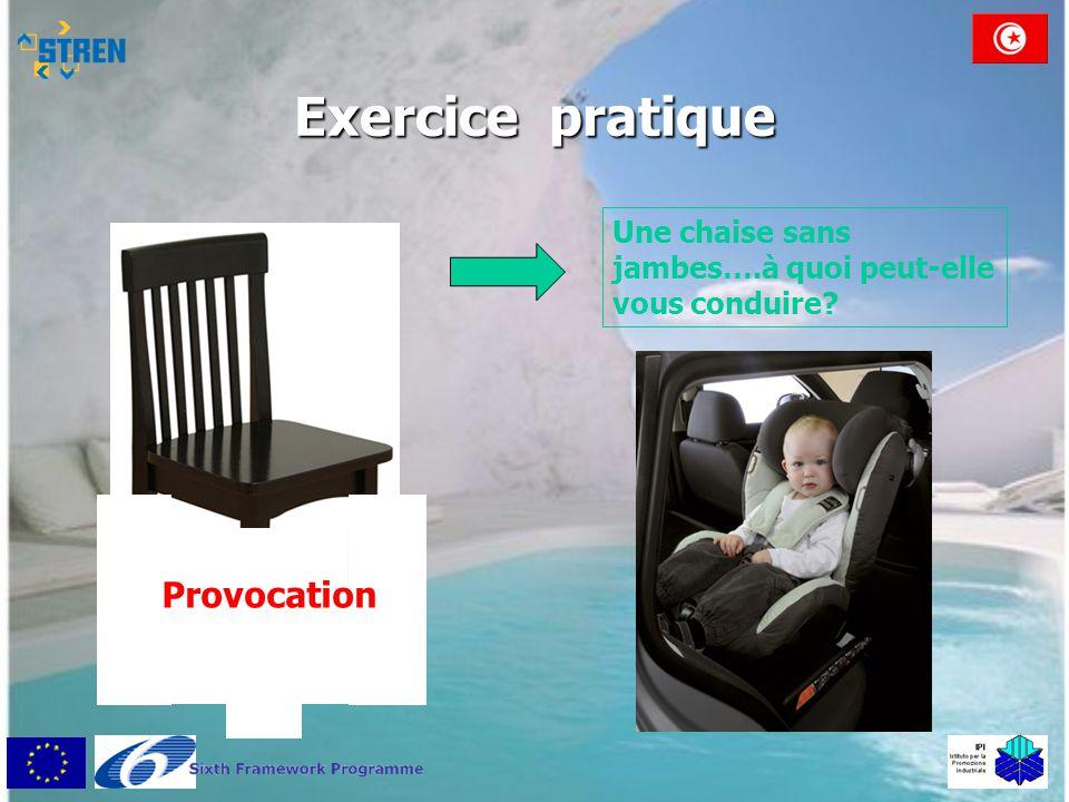 Exercice pratique Provocation Une chaise sans jambes….à quoi peut-elle vous conduire?