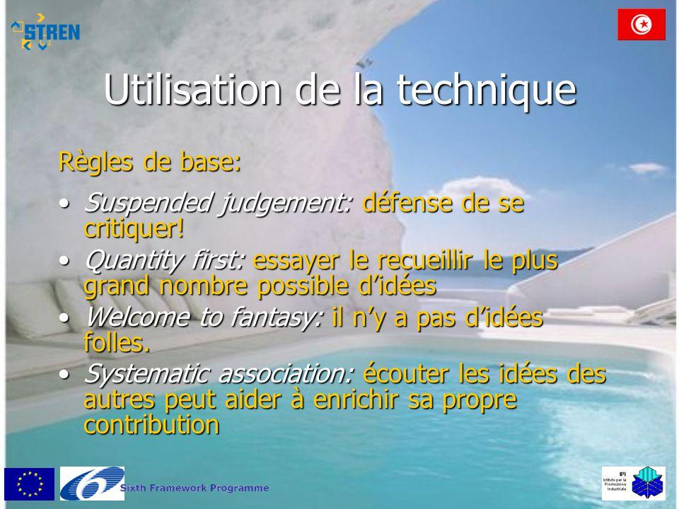 Exercice pratique (I) •Partage en trois groupes •Élaborer des nouvelles idées sur les thèmes: –Idées adressées à l'industrie légère tunisienne pour rester compétitive –Idées adressées à l'industrie lourde tunisienne pour rester compétitive –Idées adressées à l'agro-industrie et à l'industrie de l'énergie tunisienne pour rester compétitive