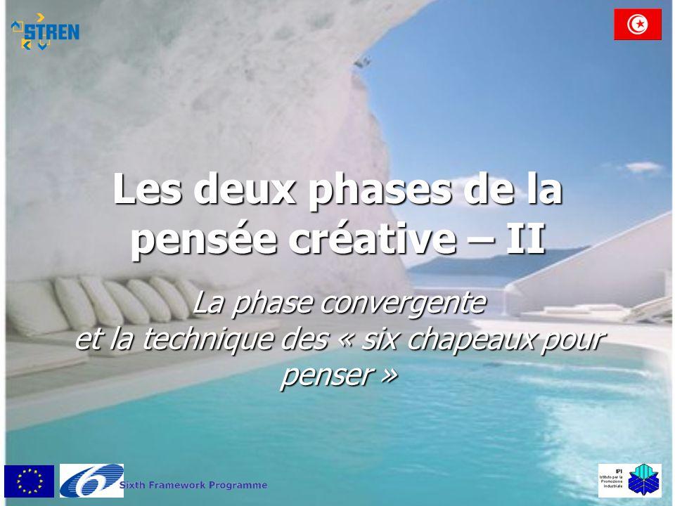Les deux phases de la pensée créative – II La phase convergente et la technique des « six chapeaux pour penser »