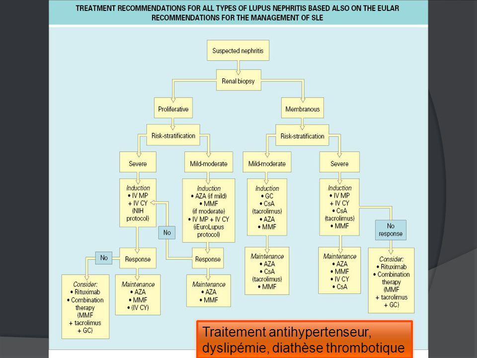 Traitement antihypertenseur, dyslipémie, diathèse thrombotique
