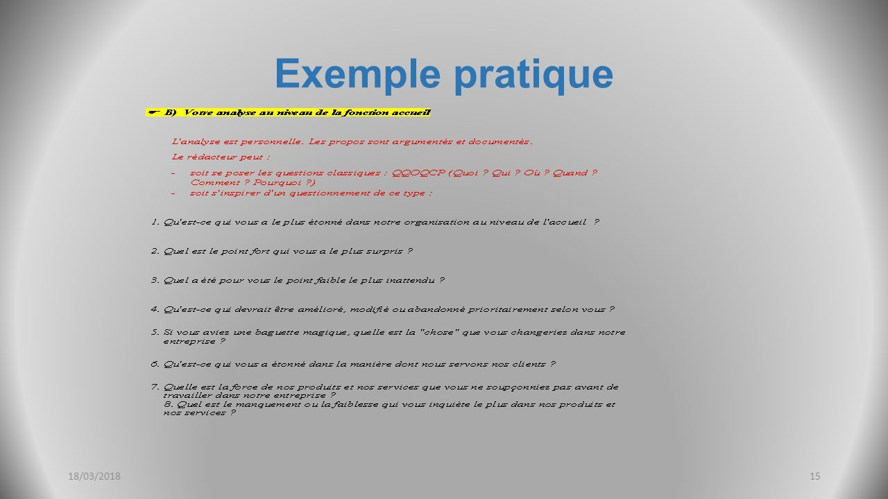 Exemple pratique 18/03/201815