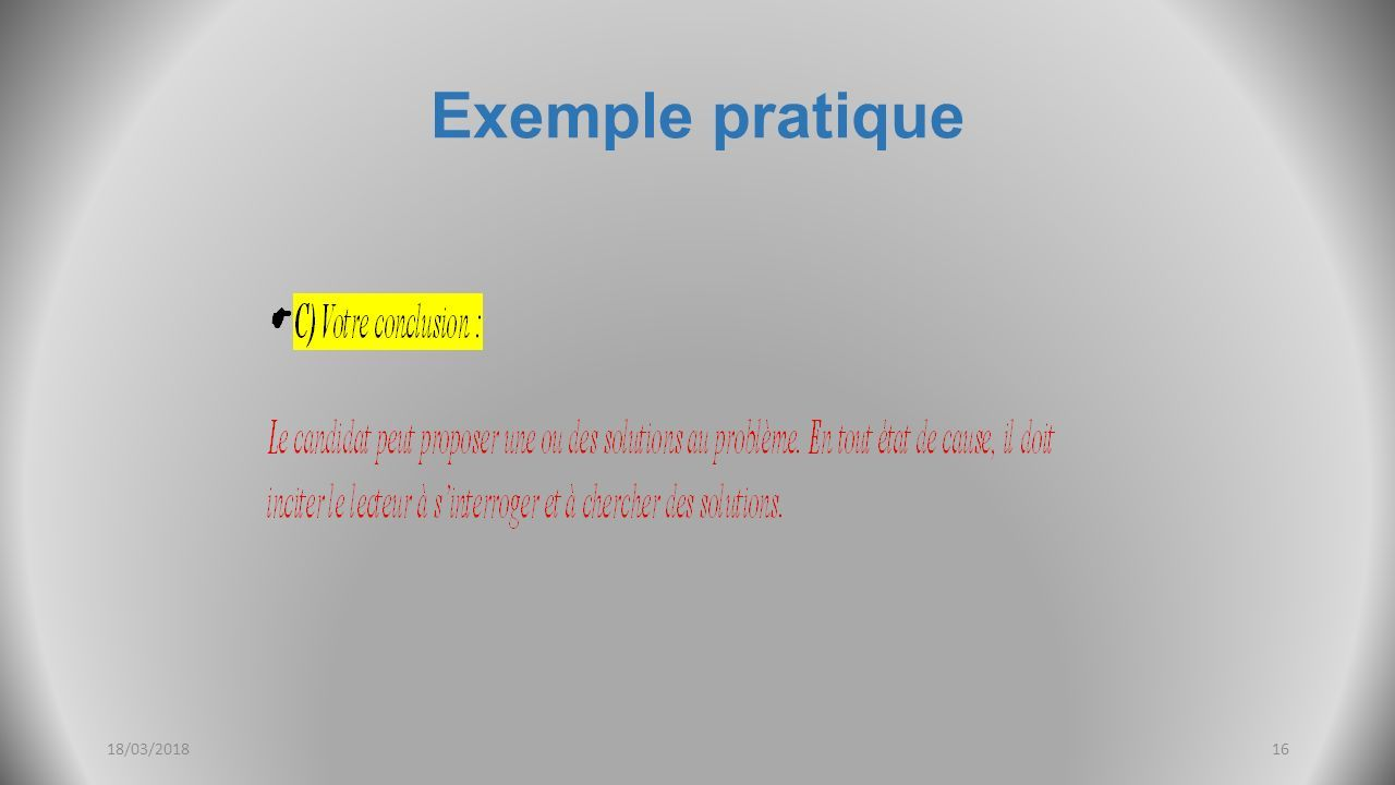 Exemple pratique 18/03/201816
