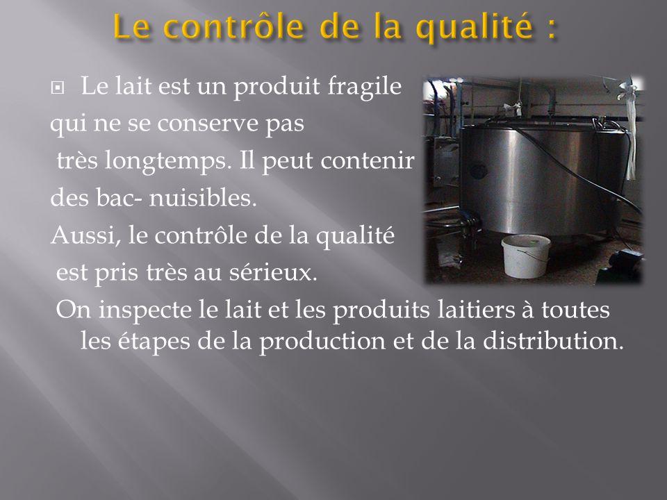  Le lait est un produit fragile qui ne se conserve pas très longtemps.