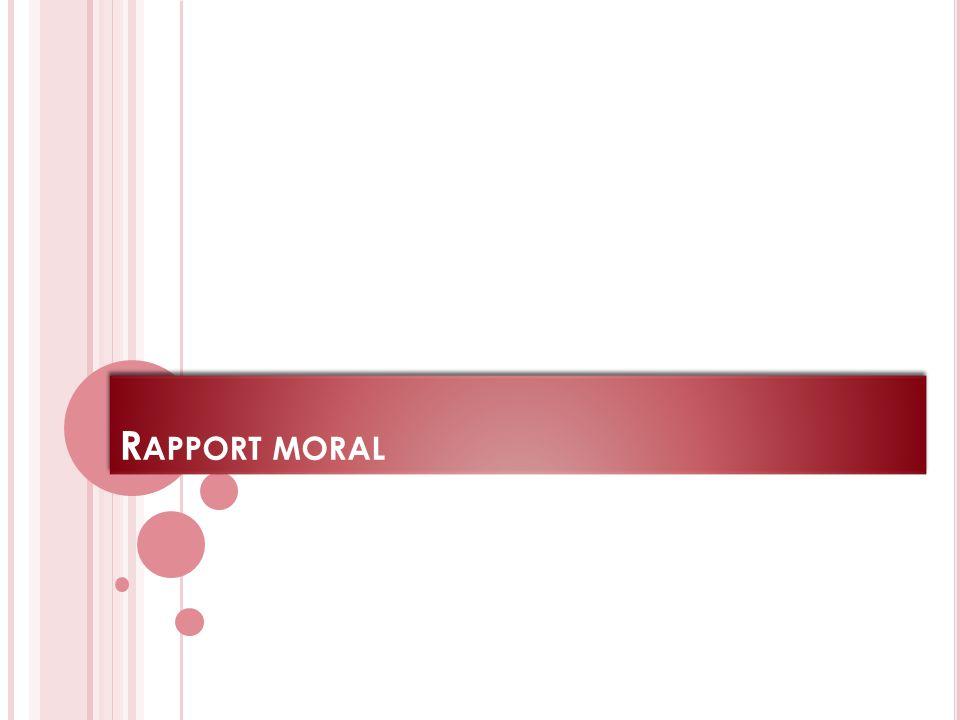 R APPORT MORAL