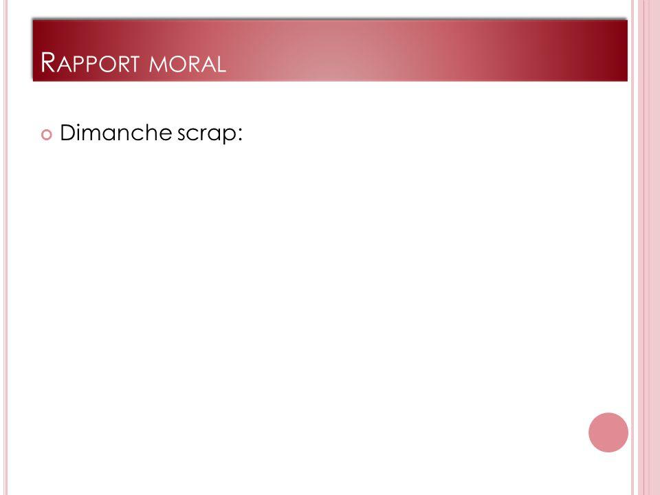 R APPORT MORAL Dimanche scrap: