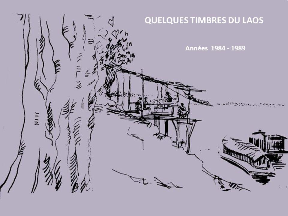 QUELQUES TIMBRES DU LAOS Années 1984 - 1989