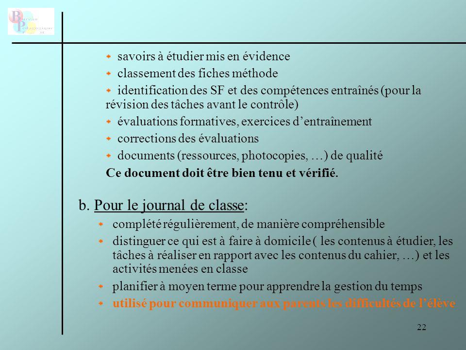 23 F.Aide aux élèves en difficulté ( remédiation immédiate, remédiation structurelle, …) G.
