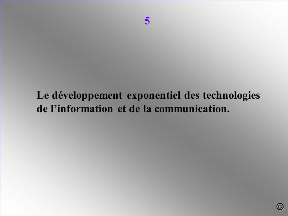 Le développement exponentiel des technologies de l'information et de la communication. 5 ©