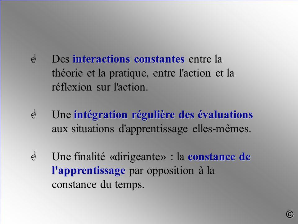 interactions constantes G Des interactions constantes entre la théorie et la pratique, entre l action et la réflexion sur l action.
