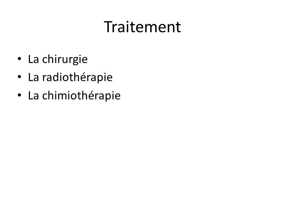 Traitement La chirurgie La radiothérapie La chimiothérapie
