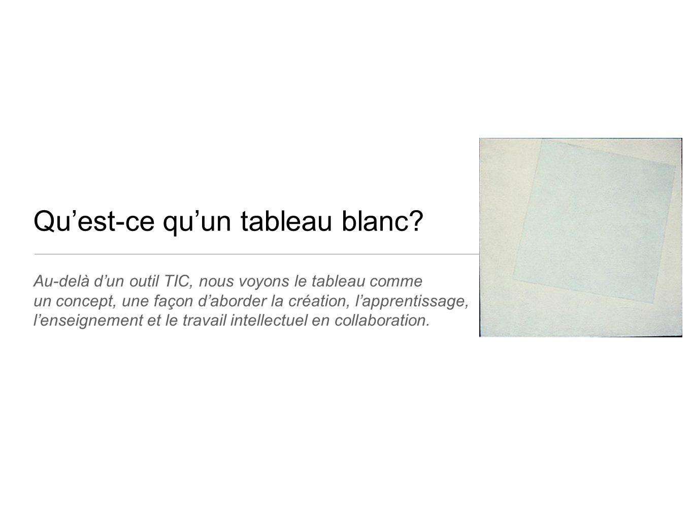 Qu'est-ce qu'un tableau blanc? Au-delà d'un outil TIC, nous voyons le tableau comme un concept, une façon d'aborder la création, l'apprentissage, l'en