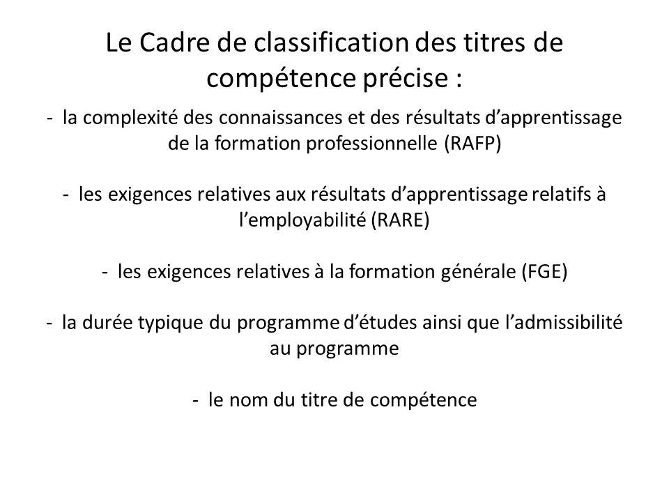 Les résultats d'apprentissage en formation professionnelle (RAFP) Représentent les connaissances, les aptitudes et les attitudes que l'étudiant doit démontrer dans le domaine de la spécialisation pour avoir droit au diplôme ou au certificat