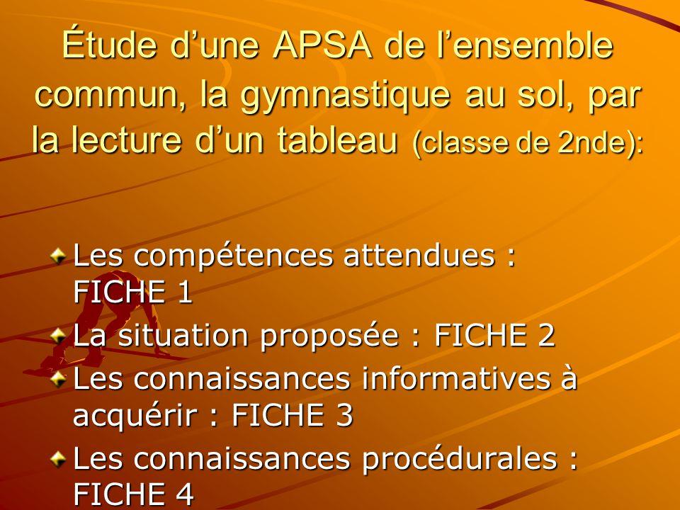 7. Proposition d'une mise en œuvre concrète : Les textes proposent un ensemble de tableaux précisant: –Les compétences attendues dans chaque APSA –Les
