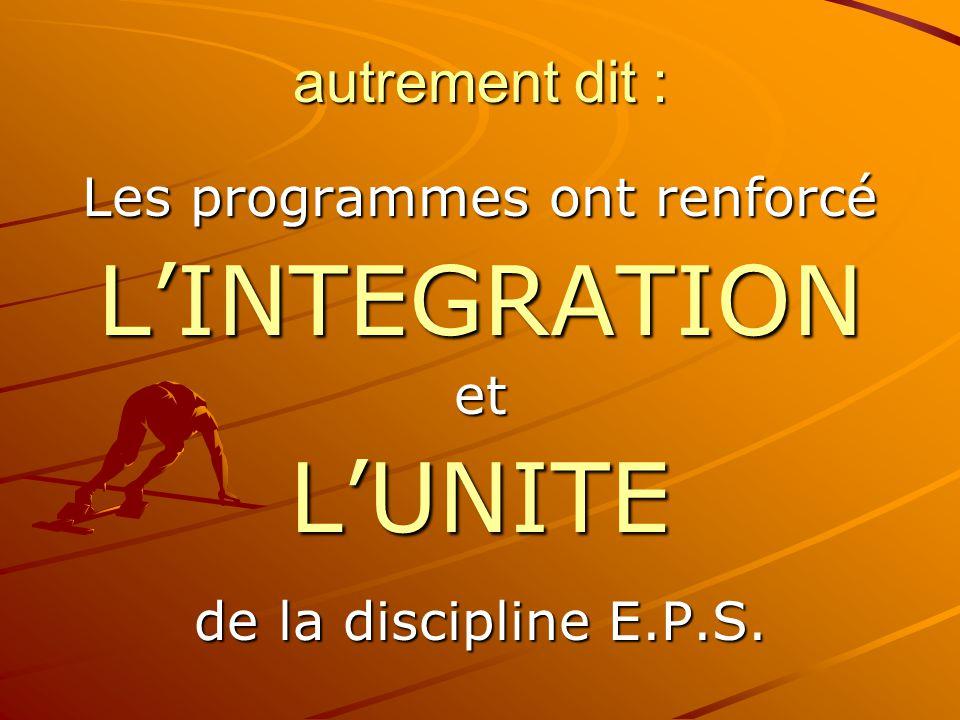 La construction des programmes d'E.P.S.