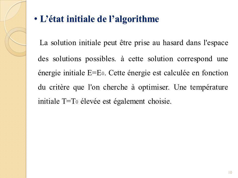 Paramètre de température Paramètre de température Le paramètre T (température) est un réel positif.