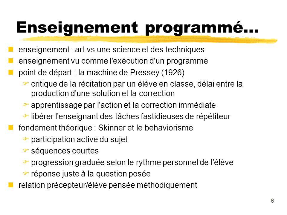 6 Enseignement programmé...
