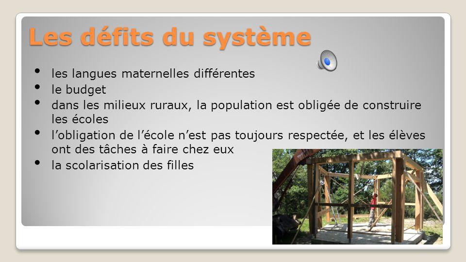 Les valeurs L'alphabébetisation de la langue maternelle L'enseignement du wolof L'enseignement du français Le respect pour les adultes La religion-ens