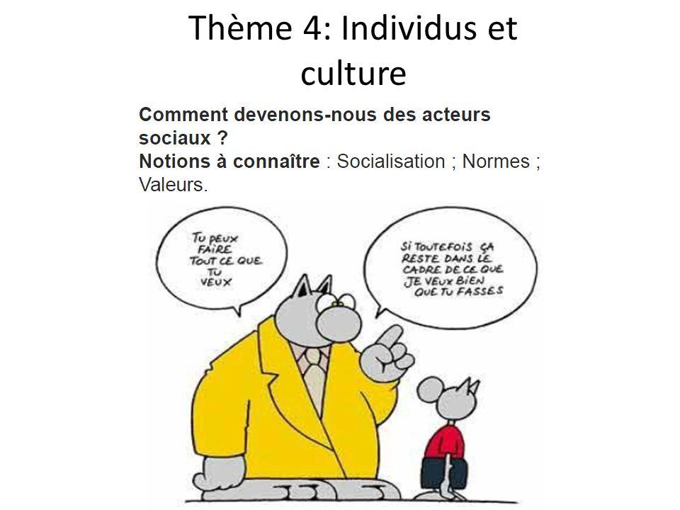 Thème 4: Individus et culture