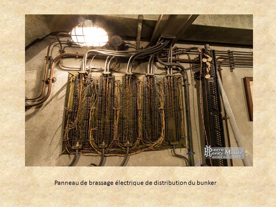 Panneau de brassage électrique de distribution du bunker