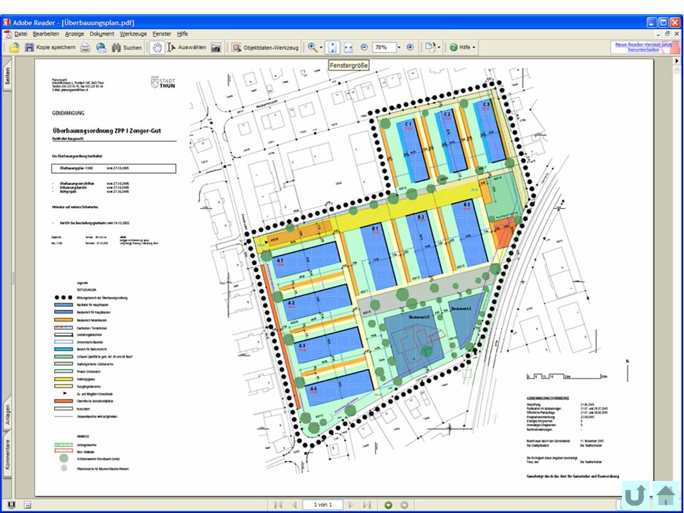 54 Office fédéral de topographie swisstopo Présentation modèle Überbauungsplan