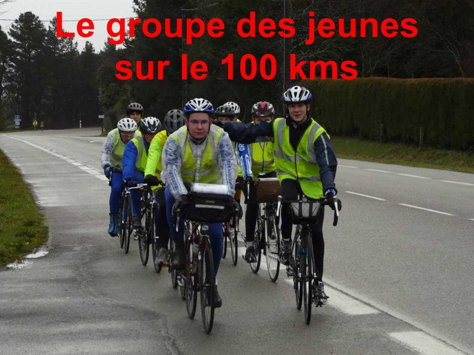 Le groupe des jeunes sur le 100 kms