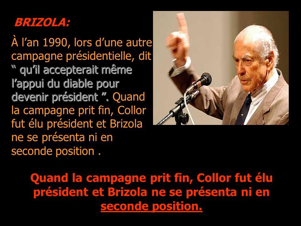 """À l'occasion d'une campagne présidentielle, dit que s'il gagnait 500 voix de son parti (PDS), """" ni Dieu ne le retirerait de la présidence de la républ"""