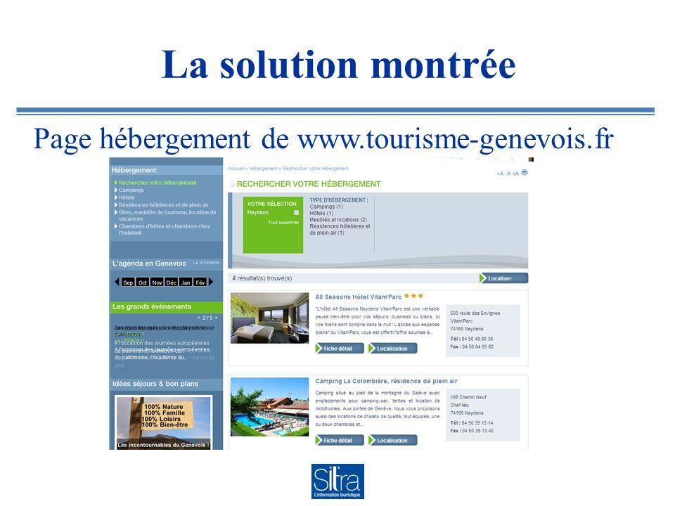 La solution montrée Page hébergement de www.tourisme-genevois.fr