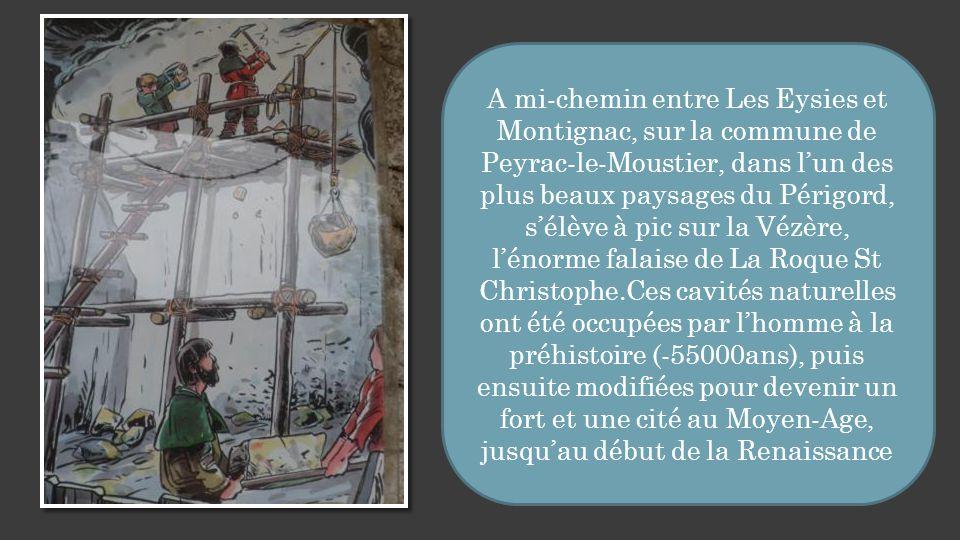 Site Troglodytique De LA ROQUE St CHRISTOPHE La Roque St Christophe ( Dordogne) Traduction :