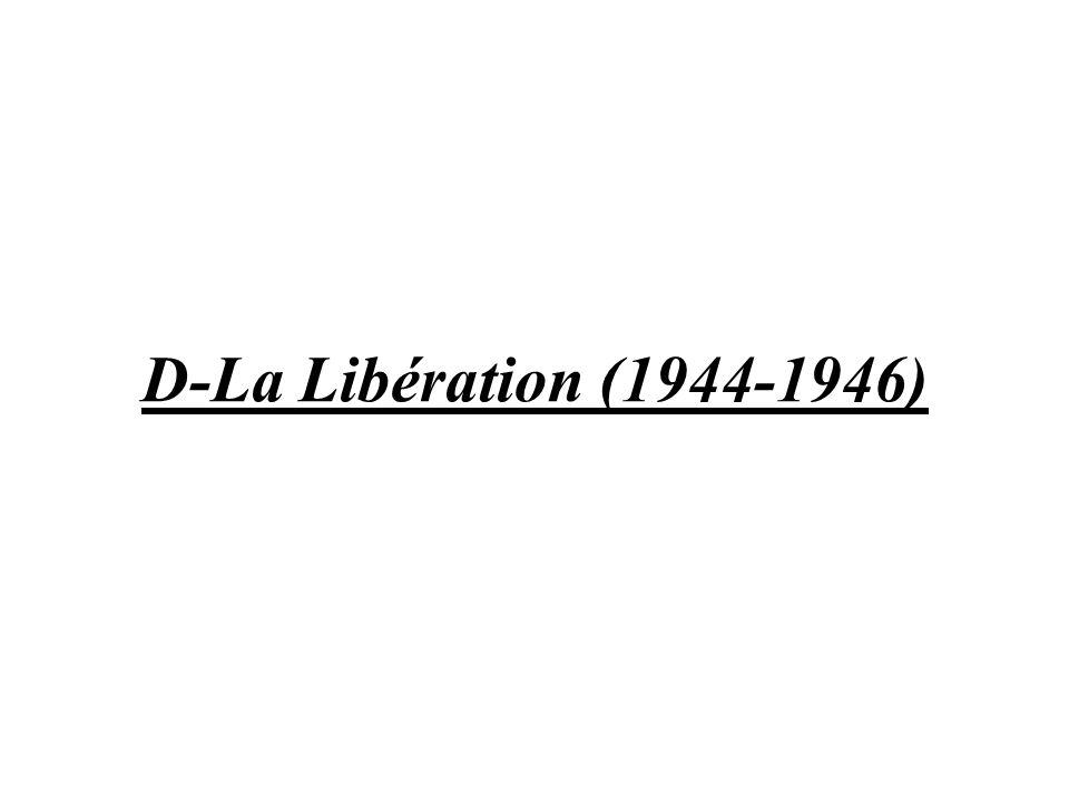 D-La Libération (1944-1946)
