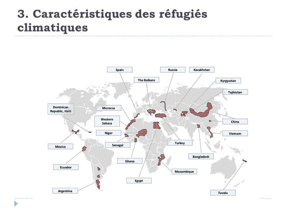 3. Caractéristiques des réfugiés climatiques
