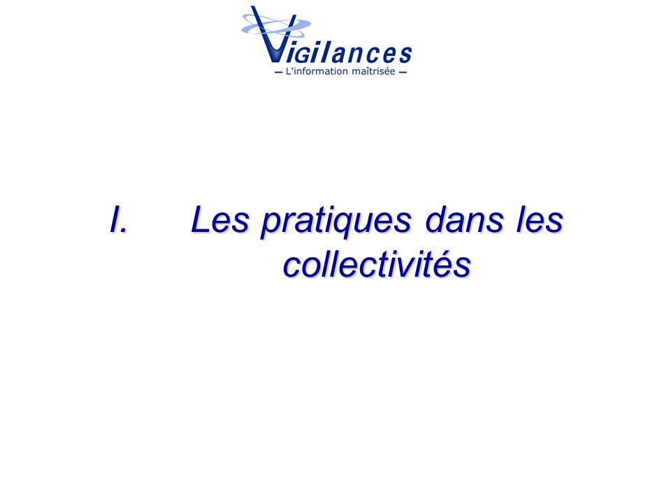 I.Les pratiques dans les collectivités