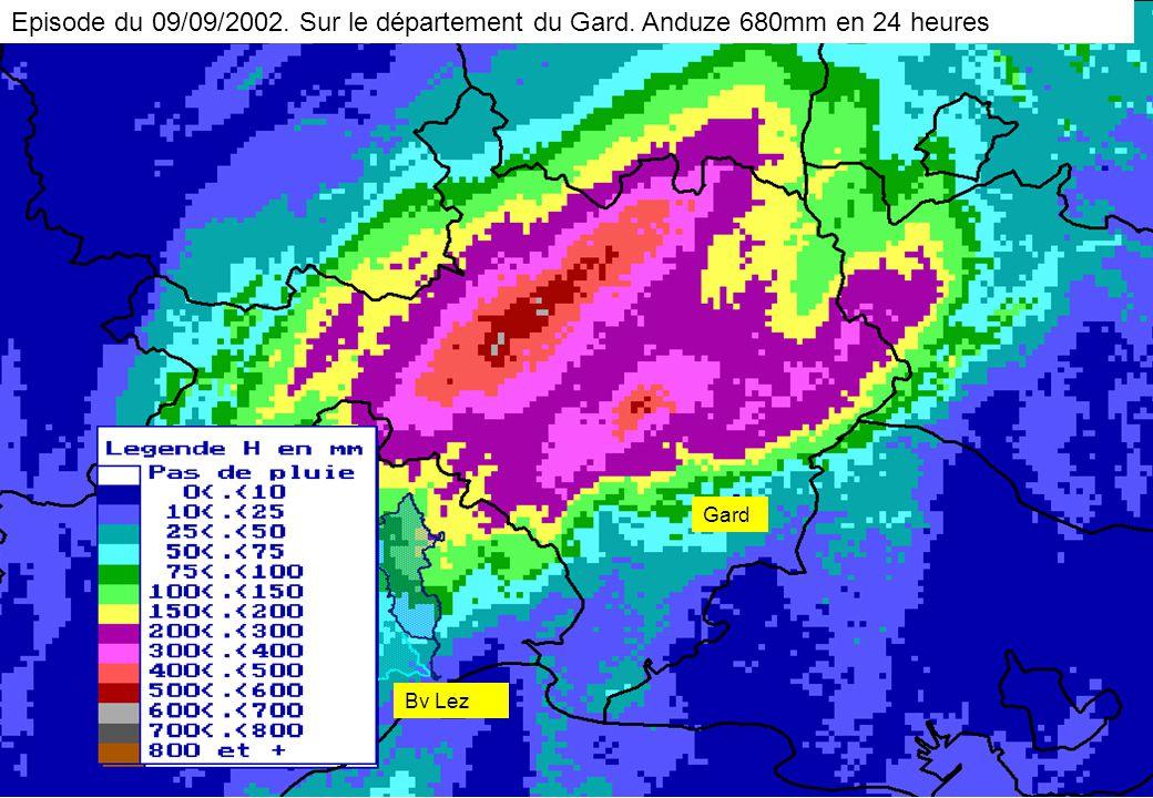 Bv Lez Gard Episode du 09/09/2002. Sur le département du Gard. Anduze 680mm en 24 heures